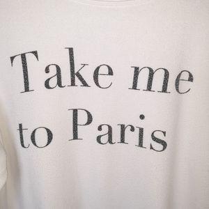 "Wildfox Tops - WILDFOX White ""Take Me To Paris"" Knit Top - M"